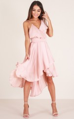 You Already Know dress in blush