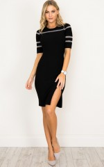 Your Own Muse knit dress in black