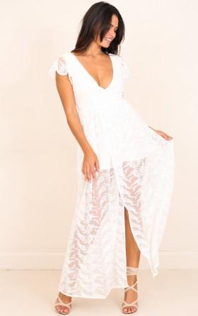 Carolina maxi dress in white lace