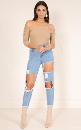 Poppy mum jeans in mid wash