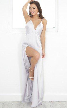 Hidden Back Zipper Polyester  Dress