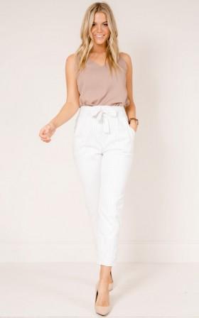 Breakaway pants in white stripe