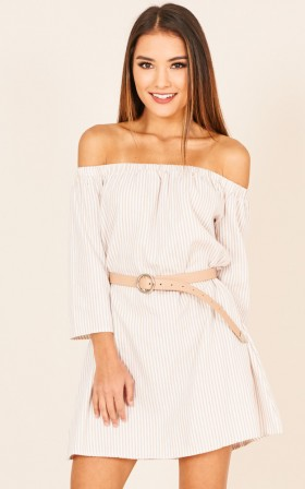 Summer Striped Print  Dress