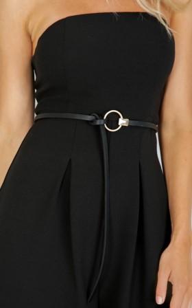 Driven belt in black