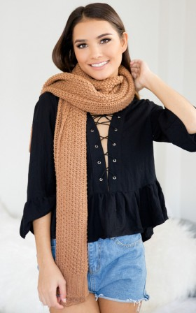 Not About You scarf in mocha