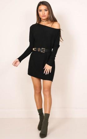 Fight Or Flight knit dress in black