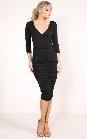 Finish Line dress in black