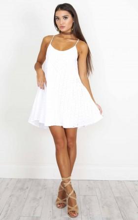I'm Your Girl Dress in white crochet