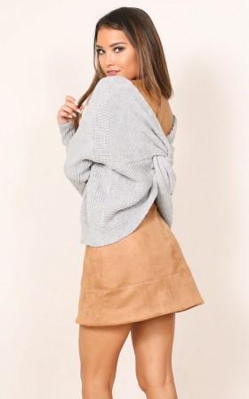 Keep You Warm knit in grey