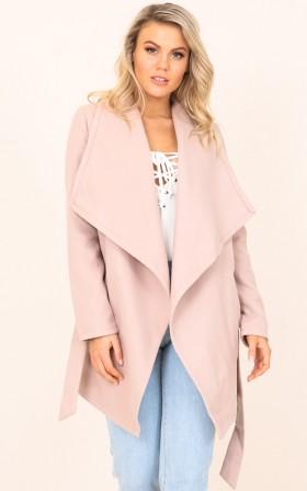 Kingdom Awaits coat in dusty pink