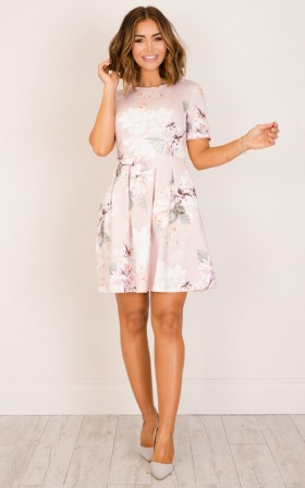 Meet the Parents dress in blush floral