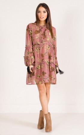 Mind Of Mine dress in blush print