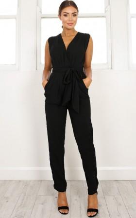 Workaholic jumpsuit in black