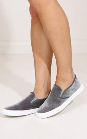 Qupid- Ryian in grey velvet