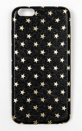 Reach For The Stars iphone 6 Plus cover in black and gold