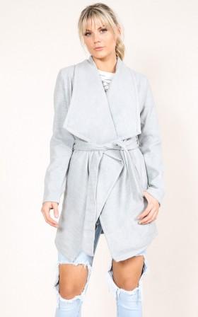 Step Inside Coat in Grey Marle