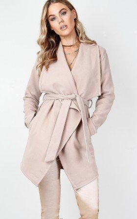 Step Inside coat in beige
