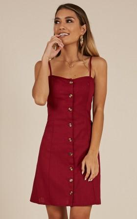 Summer Pocketed Button Closure Beach Dress