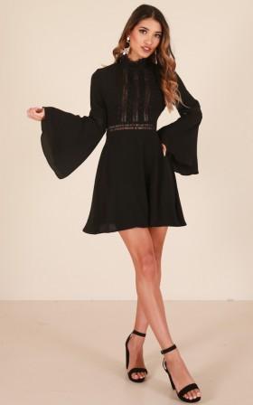 Sweet Melody dress in black