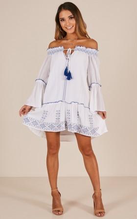 Summer Polyester Short Straight Neck  Dress