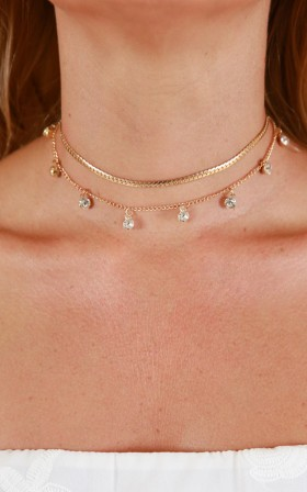 Obsessed With You necklace in gold