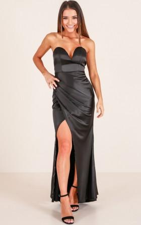 Sexy V-neck Strapless  Polyester Maxi Dress