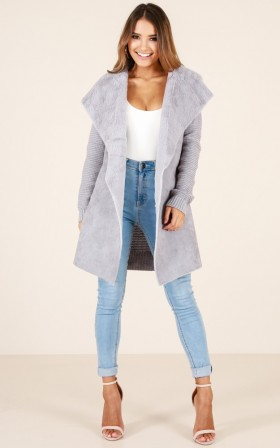 Never Stray coat in grey