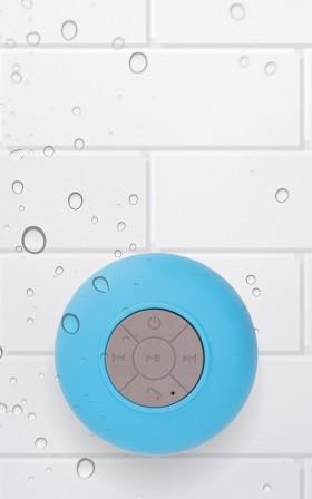 Wireless Shower Speaker in blue