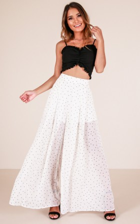 Better than Before pants in white polka