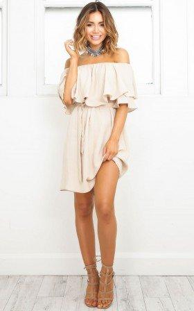 So Divine dress in beige