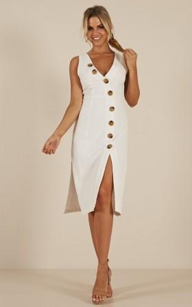Freshen Up dress in white