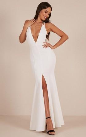 A Fine Line maxi dress in White