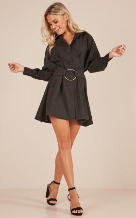 Make A Statement dress in black