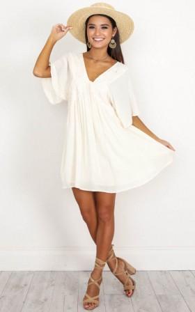 Gathered Rayon Summer  Dress