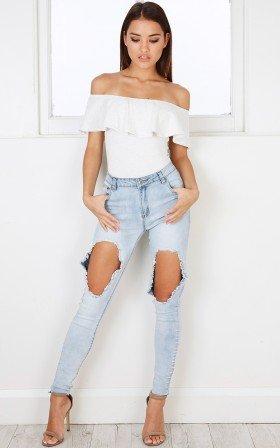 Zendaya jeans in light wash
