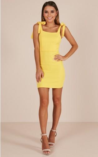 Lemon Blossom dress in yellow