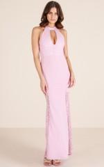 Lady Lace maxi dress in mauve