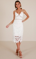 Forever And Always dress in white crochet