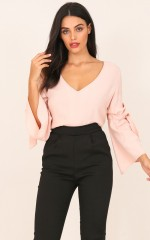 Never Walk Alone Top in Blush