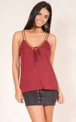 Unwritten Dream top in wine