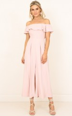 Do My Thing jumpsuit in blush