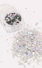Constellation Sparkles in holographic silver