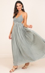 Long Way Down maxi dress in khaki