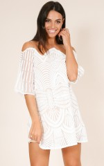 Gracey dress in white