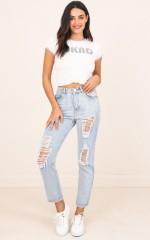 Emma Mum Jeans in Mid Wash Denim