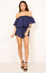 Beneath The Lights playsuit in navy