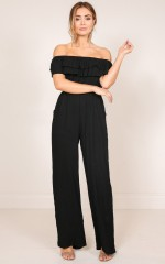 Another Sad Love Song jumpsuit in black