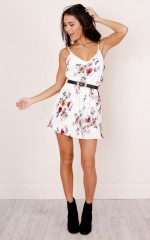 Headphone Hearts playsuit in white floral