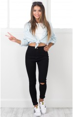 Naomi skinny jeans in black denim