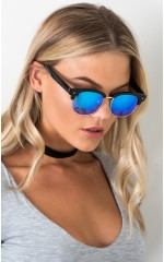 Too Cool sunglasses in black and blue